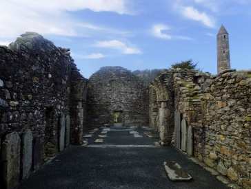 The largest structure in Glendalough is the Cathedral.