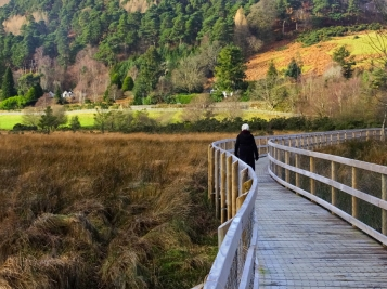 Boardwalks and paths invite visitors to explore the valley.