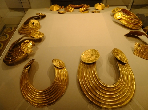 These gold collars are circa 800-700 BC.