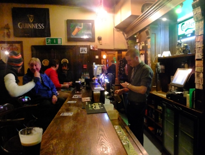 After a brisk walk on the seawall, a pint of Guinness in the Waterside Pub is just the thing.