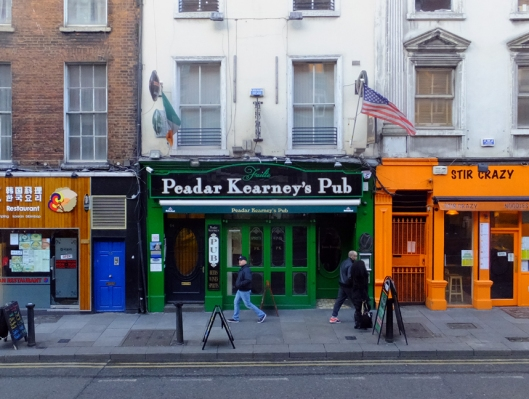 The old and the new also come together in Dublin's pubs.