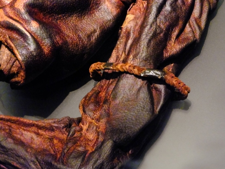 Old Croghan Man is also from the Early Iron Age, 400-200 BC. His armband survived the journey down the centuries.