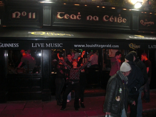 It's a wild party every night In the neighborhood known as Temple Bar.