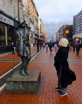 This statue of James Joyce is just one of Dublin's delightfully whimsical homages to Ireland's rich literary heritage.