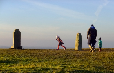Families now use the Hill of Tara as a place to enjoy the outdoors, frolicking among the ancient stones.